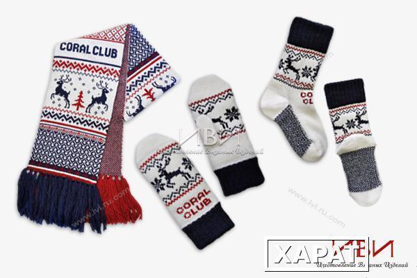 Варежки и шарф в подарок 56